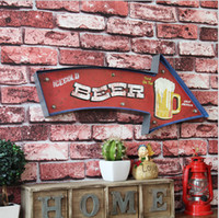 Wholesale Vintage Beer Neon Signs - Beer Vintage LED Neon Sign Lightbox Shabby chic Brass knuckles weapon Cafe Bar Metal Crafts home decor Placas decorative FML1581