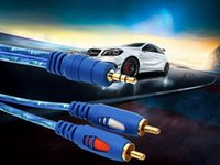 3.5MM original al cable auxiliar masculino 2RCA Plated 3.5 Jack audio RCA Cables para los altavoces sanos Mp3 TV 1.5M