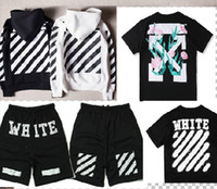 Wholesale O Neck T Shirt Women - Off White 2017 Hoodies Jacket OW T shirt Pants Men Women High Quality Kanye West Off White Abloh Virgil Hoodie Sweatshirt Pullover