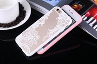 Wholesale Cartoon Sexy Case - Fashion Sexy Lace Floral Paisley Flower Mandala Henna Cases Cartoon Capa Back Cover free For iphone 6 6S 7 6s 7 Plus