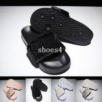 ingrosso pantofole alla moda-With dust bag red box leadcat Fenty rihanna slippers indoor shoes sandals sliding wear fashionable men and women nine color