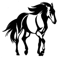 Wholesale white horse stickers for sale - Group buy Automobile and Motorcycle with Products Vinyl Decal Car Stickers Glass Stickers Scratches Sticker Trotting Horse