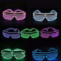 Wholesale Kids Party Wholesale Suppliers - LED Party Glasses Fashion El Wire glasses Birthday Halloween party Bar Decorative supplier Luminous Glasses Eyewear OTH055