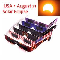 Wholesale Eyeglass Kids - Cheapest! 2017 USA Solar Eclipse Glasses Safe Viewing Eyeglasses Protect Your Eyes View Solar Eclipse Paper Sunglasses DHL Free Fast 500pcs
