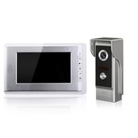 Wholesale Wired Intercoms - Video Door Phone Doorbell Intercom System 7 Inch CMOS High Definition Screen And Rainproof Camrea For Home Security