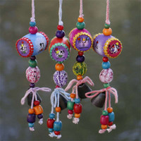 Wholesale Original Drum - Small horizontal drum set pieces of wild fruit hang a piece of creative hang a pure hand original small wind chimes