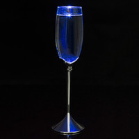 Wholesale Lead Crystal Goblet - Wholesale- 2017 customed champagne flutes Water Inductive LED Cup lead free wedding toasting wine glasses crystal goblet gifts for party