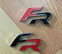 ingrosso adesivo ibiza-Distintivo dell'emblema dell'autoadesivo dell'automobile del metallo 3D FR per SEDILE Leon FR + Cupra Ibiza Altea Exeo Formula Accessori per auto da corsa Car Styling