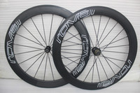12 rodas de bicicleta venda por atacado-Powerway R36 hubs branco decalque rodas de carbono bicicleta clincher carbono 60mm rodado 700C completa de carbono jantes de bicicleta rodas 3k rodas de bicicleta de estrada