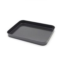 Wholesale inch rectangular Au Gratin Dishes cake baking tray mold Black heavy carbon steel baking tool
