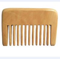 saçlar için küçük taraklar toptan satış-Küçük Cep Ahşap Tarak Geniş Diş Afro Pick Saç Tarak El Yapımı Sandal Ağacı Ahşap Anti Statik Hairloss Masaj Sakal Bakım Tarak