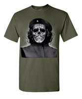 ingrosso maglietta militare di moda-Che Guevara Skull Revolution Military Viva Cuba Zombie Dead Bones T-shirt Cool moda uomo estate 2017