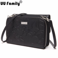 Wholesale Shoulder Blazer Women - Wholesale- UU Family 2016 Women 2 in 1 Tooled Blazer Bag Super Large Shoulder Bag Girl Crossbody Handbags Strap Hand Bag Flap Cross body