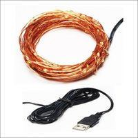 Wholesale home connector for sale - Group buy via DHL DIY LED strip Xmas gift USB copper wire fairy string home outside decoration christmas day holiday party USB connector