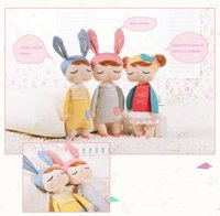 Wholesale Fantasy Statues - 13 inch Hot Sale Genuine Metoo Angela Rabbit Dolls Bunny Baby Plush Toy Cute Lovely Stuffed Toys Kids Girls Birthday Christmas Gift