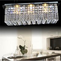 ingrosso pendenti di cristallo di rettangolo del lampadario a bracci-Moderno k9 rettangolo LED lampadario di cristallo lampada balcone luci corridoio plafoniera lampade a sospensione per corridoio camera da letto illuminazione a led