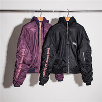Wholesale Uniform Dresses Women - 17 vetements hooded loose oversize men and women who dress baseball uniform couples coat in winter