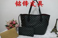 Wholesale Vintage Leather Doctors Bag - Luxury Handbags Women Bags Designer Brand Famous Shoulder Bag Female Vintage Satchel Bag Pu Leather Gray Crossbody Shoulder Bags