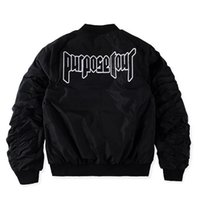 Wholesale Alpha Ma Black - Purpose Tour Jacket Bomber Men Fear of God Hip Hop Skateboard Justin Bieber Kanye Military Ma 1 Pilot Jaket Chaqueta Alpha Coats
