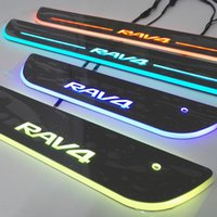 Wholesale Toyota Rav4 Scuff Plates - Toyota RAV4 Colorful LED Moving Door Sill Scuff Plate Welcome Pedal Car Styling Accessories For toyota RAV4