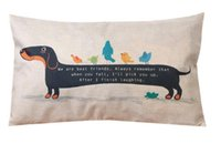 Wholesale 30X50cm Dachshund Dog Cushion Cover Sausage Dog Puppy Pillow Case Pillow Cover Dog Cushion Covers Sofa Thick Cotton Linen Pillow