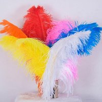 Wholesale 22 Events - 22-24 inch(55-60cm) white Ostrich Feather plumes for wedding centerpiece wedding party event decor festive decoration ZA3597