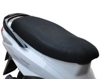 Wholesale Motor Seat Covers - 3D Honeycomb Summer Cool Mesh Polyester Motorcycle Seat Covers Anti-UV Breathable Seat Covers Universal for Honda Motor Scooter Street Bike