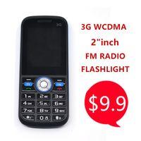 Wholesale China Cheap Hot Phone - Hot Wholesale Cheap FM Radio 2 inch Camera Flashlight China WCDMA 3G Feature Phone Mobile Factory