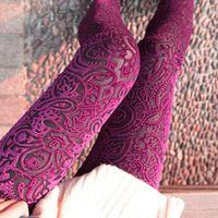 Wholesale Hollow Gold Velvet Leggings - New Autumn Women Lace Leggings Hollow Carved Peach Heart Gold Velvet Jeggings Sexy High Elastic Through Skin Legging