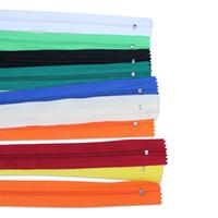 zíperes de nylon para costura venda por atacado-Misturar Bobinas De Nylon Zippers Artesanato De Alfaiate De Costura Crafter Presentes Especiais 50 pcs Para Tecido Vestido e Costura Têxtil