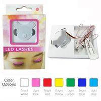 Wholesale Lash Boxes - Flash LED Lashes Fashion Interactive Glowing False Eyelashes Waterproof for Christmas Halloween Nightclub Dance Concert Party Retail Box