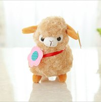 Atacado-Cute Soft Alpaca Sheep Plush Toy Creme Arpakasso Llama Boneca Animal Presente Kid