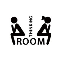 Wholesale Sticker For Toilet - Hot Sale Thinking Room Toilet Stickers Removable Waterproof Funny Bathroom Pedestal Pan Cover Stickers Diy Wc Decals DIY