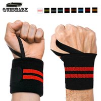 Wholesale Dumbbells Hands - 2Pcs Gym Hand Wraps Wrist Strap Weight Lifting Wrist Wraps Gloves Crossfit Dumbbell Powerlifting Wrist Support Sport Wristband