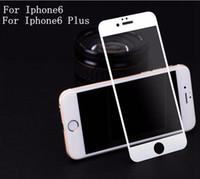 temperli cam ekran koruyucusu renkleri iphone toptan satış-0.2mm iPhone Için Tam Kapak Temperli Cam Ekran Koruyucu Anti-Çizik Ücretsiz Kabarcık beyaz siyah toplam 2 renkler