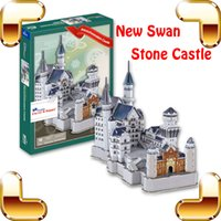 Wholesale Neuschwanstein 3d - New Year Gift Neuschwanstein Castle 3D Puzzle Model Architecture Paper Puzzle DIY Intelligence Toy Cubic Building Puzzle Toys