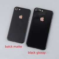 Wholesale Decals For Cell Phones - For iphone7 6 plus 5S full cover Black Matte and jet black glossy Metallic back cover Cell Phone Protector Screen Stickers skin decal