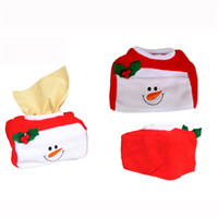Wholesale tissue box santa claus - Wholesale-Fashion Style Christmas Tissue Box Cover Bags Decoration Home Party Santa Claus Tissue Boxes #10 2016 Gift 1pc