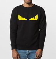 новые стильные рубашки оптовых-Wholesale- funny sweatshirt new autumn winter Angry eyes men hoodies hip hop style  clothing fleece top hooded tracksuit