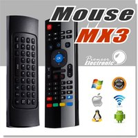 Wholesale Mini Remote Control Infrared - MX3 Air Mouse Mini Wireless Keyboard for smart tv box fly mouse Multifunction 2.4G Infrared Remote Control for IPTV HTPC MAC OS PS3 Windows