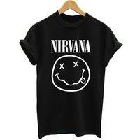 Wholesale Nirvana Clothing - Wholesale- 2015 New Women Mens Rock Band Tops Tees Short Sleeve t shirt Famous Rock Band Nirvana Printed Cotton t-shirt Designer Clothing