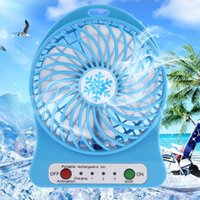 Wholesale Usb Desk Fans - Portable Rechargeable Mini Desk USB LED Light Fan Air Cooler With USB Charging Cable LED Multifunctional Fan