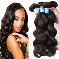 Cheveux brésiliens du corps vagues Weaves Wefts 3pcs Natural Black Color Weaves Crochet Body Wave Extensions des cheveux humains Emballage 3pcs lot
