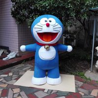 poupées dora achat en gros de-Cartoon cartoon poupée jingle cat Doraemon cartoon dolls Dora A Dream poupée en costume custom mascot Livraison gratuite