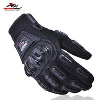 Wholesale Motor Bike Racing Gloves - Wholesale- Madbike motorcycles moto gloves men guantes motorcycle racing luva couro motocicleta motor bike motocross gloves red blue black