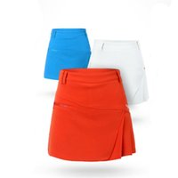 Wholesale Drawstring Sports Skirt - PGM Golf Skirt Pant Lady Women Girls Golf Clothing Female Leisure Sport Skirt Pants Solid Color Golf Short Skirt Dress XS-XL 2513025