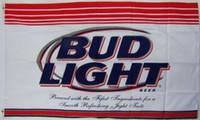 Wholesale Banners Lighted - Budweiser Bud Light Beer Banner Flag 3X5Ft Custom Football Hockey College Baseball Flag