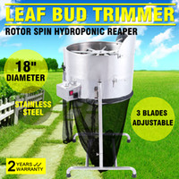 Wholesale Professional quot Stainless Steel speed Hydroponic Leaf Bud Trimmer Rotor Spin Bud Trim Reaper