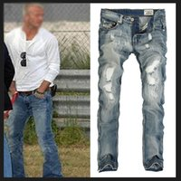 Wholesale New Jeans Classic - Wholesale-2016 new fashion designer famous brand denim pants Men's Jeans classic jeans size 28-36