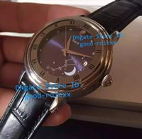 Wholesale Man Moon Watch - Brand New Mens Automatic Calendar Complications Moon Watch Men Nautilus Calf Leather Moonphase Display Watches Top Business Wristwatches